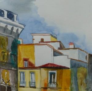 Immeuble jaune de Madrid